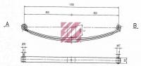 Рессора передняя 2-Х листовая c втулками(шкв вт) MAN 14.272
