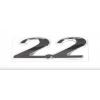 """Надпись """"2.2"""" MB Vito (W638) 96- (для задней двери) (хром)"""