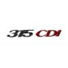 """Надпись """"315CDI"""" MB Sprinter 06- (для задней двери) (хром-красный)"""
